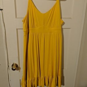 Torrid Size 3 Mustard Yellow Jersey Dress